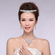 Noble tiara bridal jewelry set high grade crystal excellent design for bridal favor Indian flavor HF83633