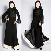 fashion black sheer chiffon kaftan jilbab latest abaya designs 2014 dubai