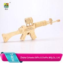 2014 cotowins 3d wooden puzzle model mini cap kids toys guns
