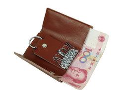 Emboss your LOGO Genuine Leather Car Key Cover, Handmade Key Case, folding key case