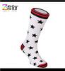 High quality custom white star dress sock for women