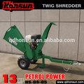 High quality garden shredder Honda motor CE approved Kohler gas engine trailer hydraulic gasoline engine wood shredder machine