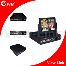 "Excellence in networking! 8CH HD H.264 network DVR with 7"" LCD Monitor"