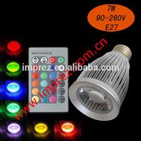 7 Watt Colour Changing RGB led bulb MR16/GU1O/E27