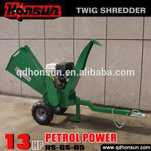High quality garden shredder Honda motor CE approved Kohler gas engine trailer hydraulic gasoline power log chipping machine