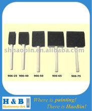 higher quality wood handle sponge brush set