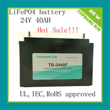 TOPBAND! Lithium (LiFePO4) Battery 24V 40AH with PCM for ups/solar system