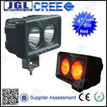 JGL Car Accessory 4x4 Led Work Lamp 9-60V 6W Led Forklift Lights For Heavy Duty Off Road Cree Red LED WORK LIGHT