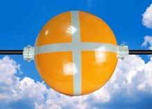 Luz do dia aviso aeronave esfera com fita reflexiva