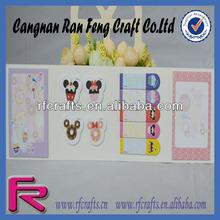 custom fruit shape sticky note pad removable sticky notes