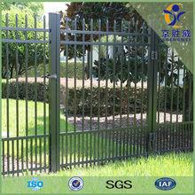 Shengwei fence - Black powder coated galvanized decorative tubular gates and steel fence design