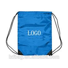 custom logo polyester drawstring bag backpack waterproof