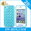 Mesh Grid Design TPU Back Cover For iPhone 4s Case