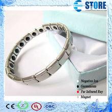 Women and Men Germanium Titanium Elastic Stainless Steel Bracelet