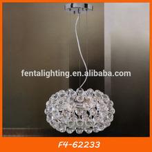 Moderna bola em forma de hotel acrílico sombrailuminação do pendente f4-62233