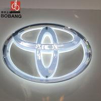 Lighted car logo / illuminated Japanese car logo emblem