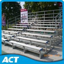 Easy install freestanding bleacher frames for basketball field
