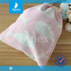 pink cute custom printed drawstring bags