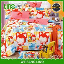 wolf print bedding/custom print bedding/100 printed cotton fabric for bedsheet