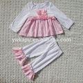 Tatlı kız sonbahar butik kıyafet, toptan bebek giysileri çocuk butik