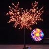 Indoor waterpoof Christmas decorative LED artificial cherry blossom tree light at hotel LED orange color cherry blossom tree