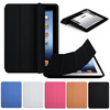2014 New Arrival New Slim Luxury Fashion Stand Smart Case Leather Back Cover For Apple iPad 2 3 4 Free Shipping&Whloesale