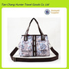 Fashion stylish canvas tote bag lady hand bag with front pockets wholesale china products