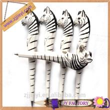 wooden animal pens,fashion fancy writing pens,zebra shaped wood carved pen