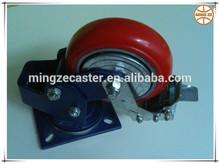 Height adjustable caster,caster with lock,spring loaded caster