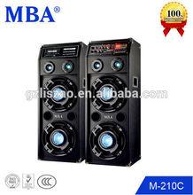 "MBA Dual 10"" Pro Audio PA System DJ Sound Box With Led Light,Power Amplifier"