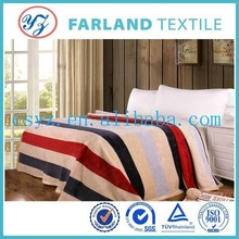 Fashion Striped Flannel Fleece Blankets,100% Polyester ,Super Soft ,China supplier to provide