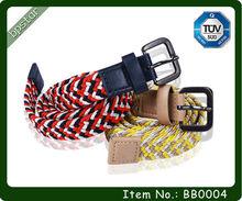 Fashion Unisex Colorful Woven Elastic Stretch Belt