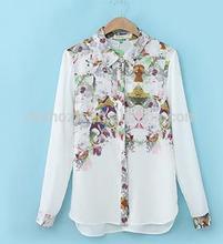 Z52479A 2014 new design China fashion women print blouse/fashion blouse