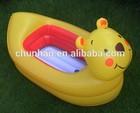 2014 new pvc inflatable bear bath tubs