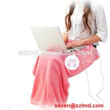 2014 new gadget far infrared usb heated blanket animal print blanket