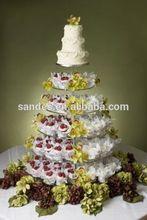 Elaborate round acrylic cake display stand