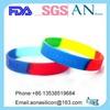 HOT Colorful silicone bracelets/customized silicone wristband