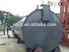 Hydraulic pressure feeding old plastic recycling plant installation on site