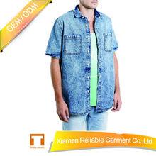High quality custom denim Shirt bulk blank shirts for men