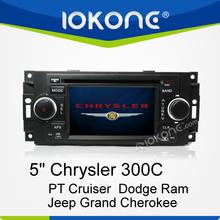 Factory 2 din touch screen chrysler pt cruiser car radio with DVD, GPS, Radio, Bluetooth, Ipod, SD, USB, Steering wheel control