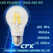 new 360 degree A60 6W E27 LED Filament bulb