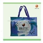 Full Color Logo CMYK Printing PP Non Woven Fabric Shopping Gift Tote Laminated Reusable Bag