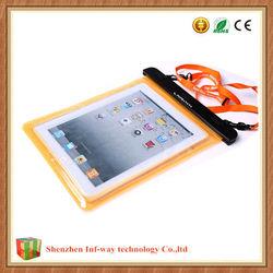 Big PVC Super IPX8 Waterproof Bag for Apple iPad Samsung Tab