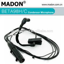 BETA98H/C condensor drum XLR wired microphone