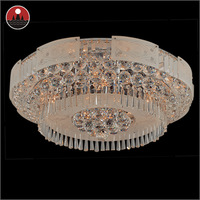 Silver crystal light / Chrome finish ceiling lamps