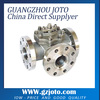 China Flange Connecting stainless steel 3 way ball valve