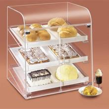 Alta quantidade acrílico caixa distribuidora de doces transparente