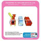 whizzy mini vehicles+ sticker set ambulance/ truck /plane