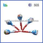 Hot selling blue twist wheel lollipop plastic candy lollipops bulk red