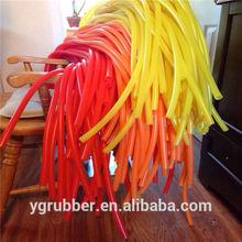 Colored silicone rubber tubing
